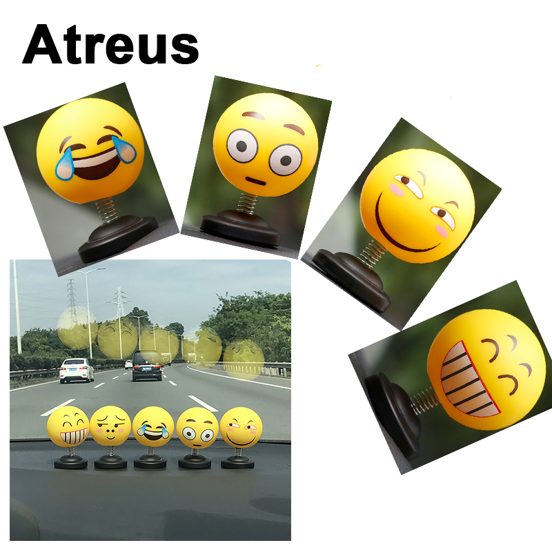 Atreus Car Styling 3D Funny Face Decoration Stickers For Ford focus 2 3 fiesta mondeo Chevrolet cruze aveo captiva lacetti Jeep