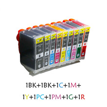 9X New BCI-3e BCI3 BCI6 compatible ink Cartridge high quality BCI 6 BCI6 For Canon PIXMA iP8500 Pro9000 i990 i9900 i9950 printer refurbished print head qy6 0055 printhead for canon i9900 ip8500 pro9000 shipping free