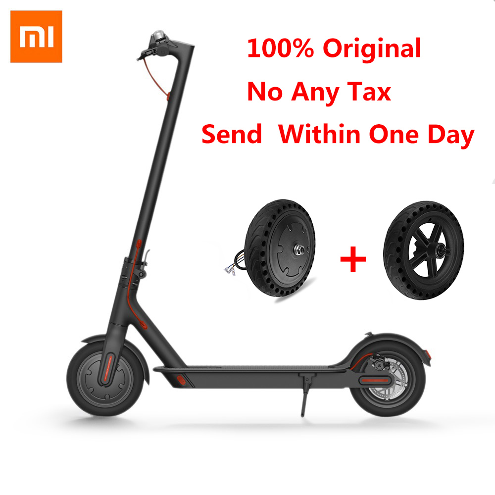 100% Original Xiaomi M365 Scooter électrique et ensemble de pneus antidéflagrant envoi rapide ultra-léger pliant planche à roulettes Scooter électrique