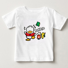 2018 childrens short sleeved T-shirt, cute little duck and partner party T-shirt boys girls 100% cotton