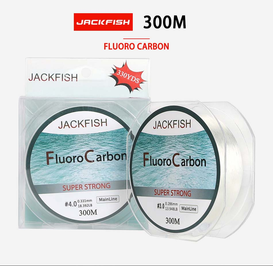 JACKFISH Fluorocarbon Fishing Line 5-32LB Superpower Braided Carbon Fiber Leader