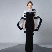 Nahen Osten Schwarze Formale Kleid Für Abend Party 2016 Meerjungfrau Mit Wrap Spezielle Gelegenheits-kleid Neue Satin Prom Kleider Abendkleider
