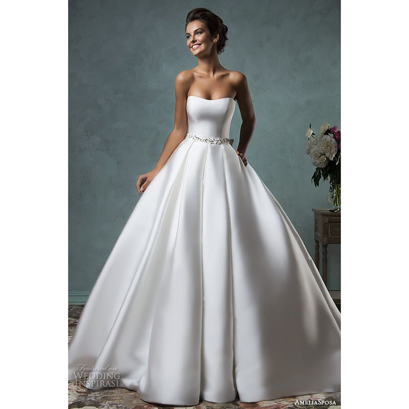 Buy vintage wedding dresses strapless for Beautiful ball gown wedding dresses