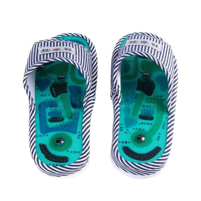 Acupuncture Foot Massage Slippers Health Shoe Reflexology Magnetic Sandals Acupuncture Healthy Feet Care Massager Magnet Shoes 5