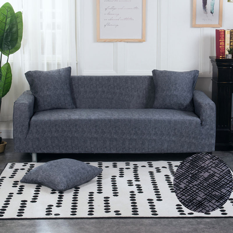 Floral Printing and Wrinkle Free Sofa Cover with Elastic Bands and Straps for Living Room Corner Sofa 2