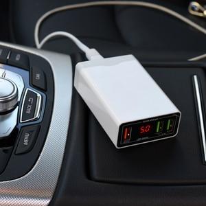 Image 4 - 12 V 24 V סוללה העברת 5 V USB תשלום מהיר 6A QC3.0 3 יציאת טעינת מתח ותצוגה נוכחית טלפון טעינה