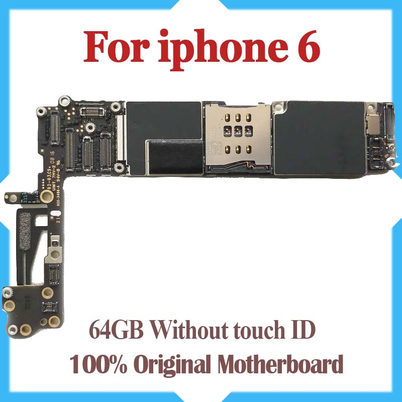 64GB for iPhone 6 Mainboard with Chips 100 Original Unlocked for iphone 6 Motherboard without Touch