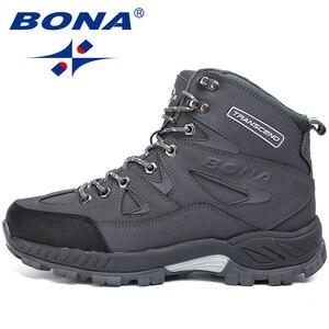 Image 4 - بونا جديد وصول الرجال حذاء للسير مسافات طويلة المضادة للانزلاق في الهواء الطلق أحذية رياضية المشي الرحلات تسلق أحذية رياضية Zapatillas أحذية مريحة