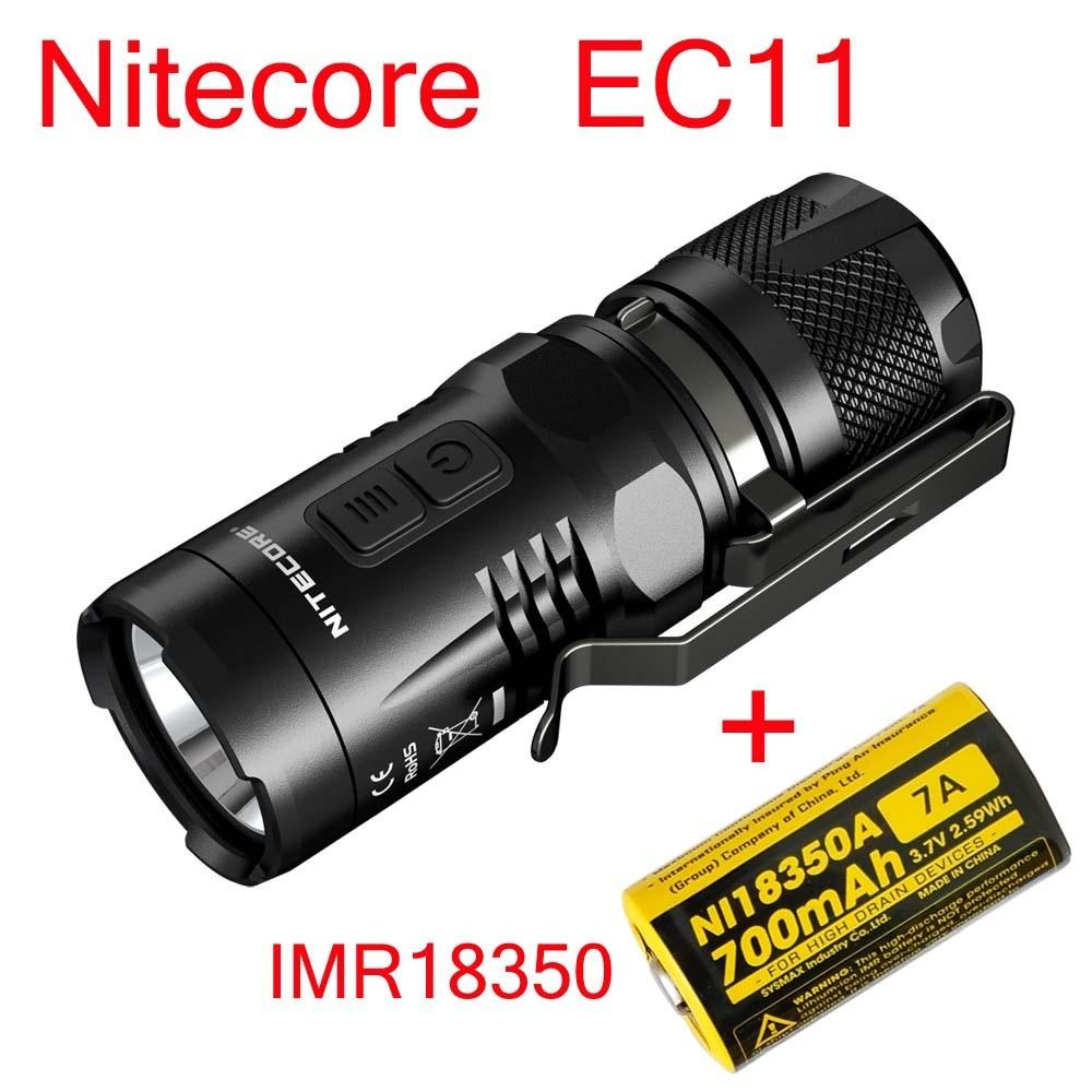2015 Nitecore EC11 CREE XM-L2 U2 LED di 900 Lumen Torcia Elettrica Impermeabile Rescue Ricerca Torch + IMR18350 700 MAH Batteria