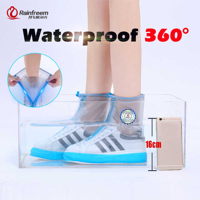 Rainfreem yağmurluk su geçirmez Rainwear yüksek kaliteli yürüyüş balıkçılık ayakkabı botları kapağı bisiklet yağmur kapakları S-3XL