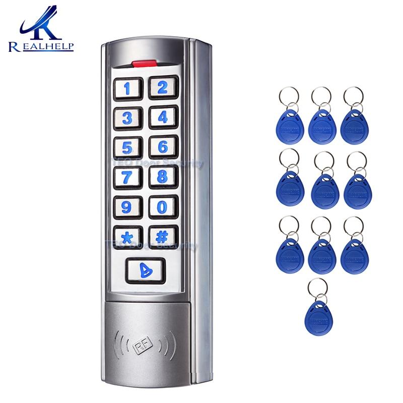 2000 utilisateurs lecteur de carte de contrôle d'accès clavier en métal vitesse de fonctionnement rapide accès simple porte RFID avec Wiegand 26 12 V/24 V DC