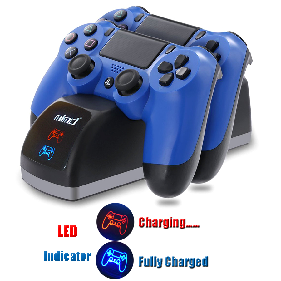 PS4 DualShock 4 USB Charger Charging Dock Station Stand for Playstation 4 PS4 / PS4 Pro / PS4 Slim Controller