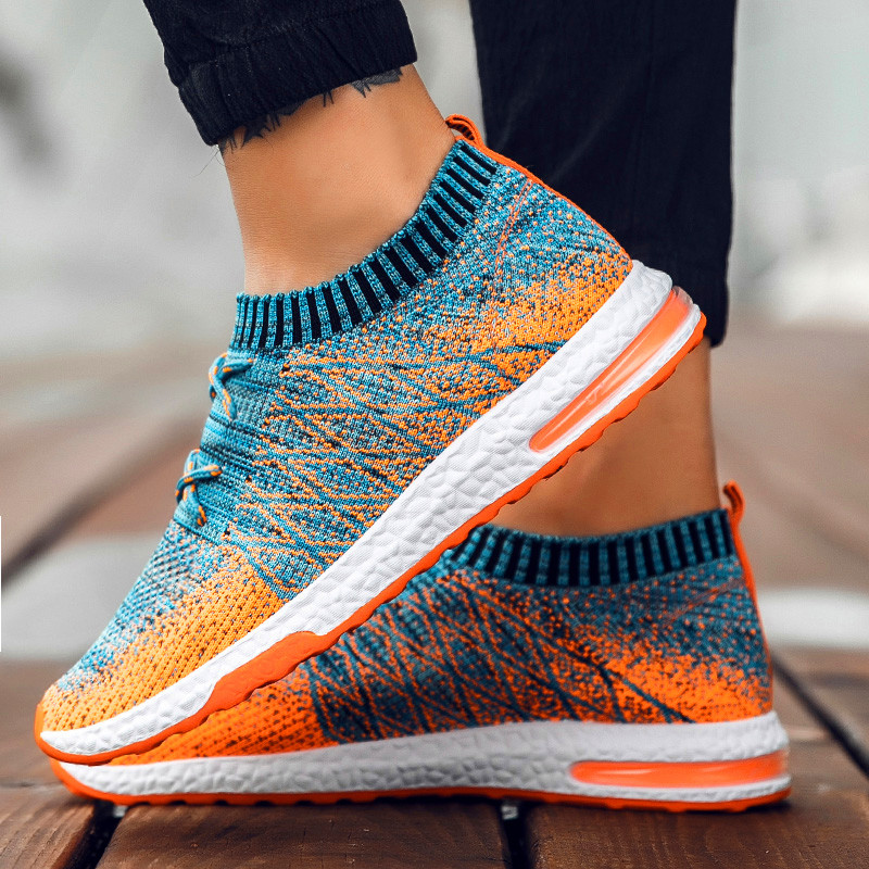 NAUSK Men Fly-knitted Shoes for Man Sneaker  Male Fashion Sock Shoes Designer Causal Shoes sapato masculino  Summer Shoes zapatillas de moda 2019 hombre