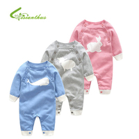 2017 Spring Autumn Baby Knit Romper Infant Boy And Girl Cotton Cartoon Jumpsuit Long Sleeve Climbing