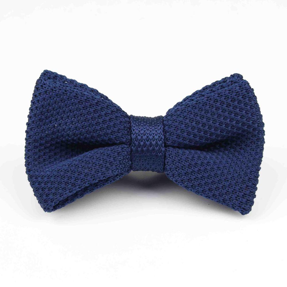 Мужские галстуки для шеи, смокинг, вязаная бабочка, Одноцветный галстук-бабочка, толстый двухслойный предварительно завязанный Регулируемый вязаный Повседневный галстук - Цвет: 21