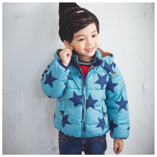 2d87e1f0f Baby Boy Winter Coats Warm Puffer Jacket for Stars Printed Thicken ...