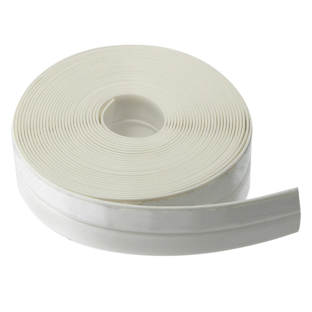 New Style 5 Meter Self-adhesive Draught Excluder Strip Window Door Seal Tape Width: 25mm white