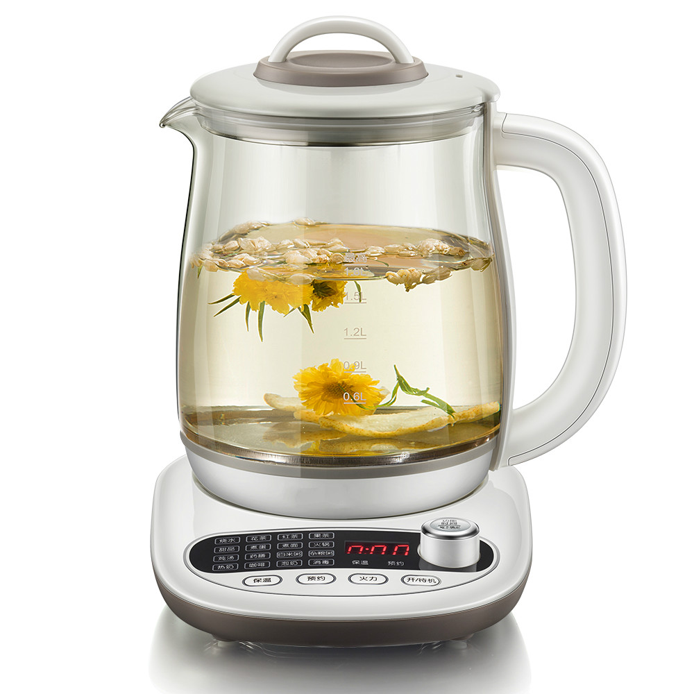 health raising pot fully automatic thickening glass 1.8 liter multi-functional boiling tea kettle/electric health pot mini automatic thickening glass multi purpose tea kettle flower tea pot boiling pot electric kettle
