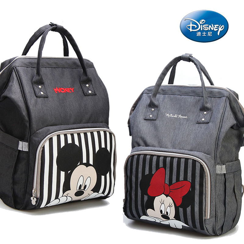 Disney Diaper Bag Backpack Bolsa Maternidade Waterproof Stroller Bag USB Baby Bottle Warmer Mickey Minnie Travel Mummy Backpack Disney Diaper Bag Backpack Bolsa Maternidade Waterproof Stroller Bag USB Baby Bottle Warmer Mickey Minnie Travel Mummy Backpack