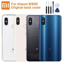 Xiaomiオリジナルガラスシャオmi 8 Mi8 Mi8 se mi 8 se Mi8 seの交換リアハウジングケース