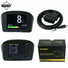 2.4'' AUTOOL Multi-Function Car OBD Smart Digital meter& Alarm Fault code Water temperature gauge voltage speed meter display