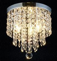 220V E14/110V E12 Chandelier Lustre K9 Crystal Chandeliers Lighting Led Fixture Small Clear Crystal Lustre ceiling Lamp ZXD0025