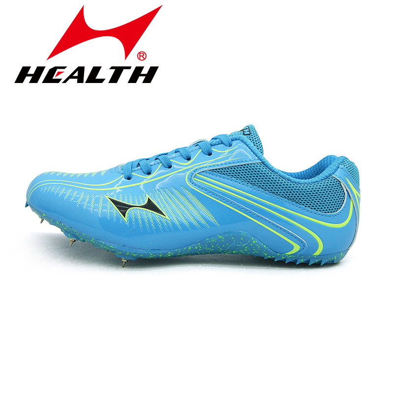 b32d9997f HEALTH Running spikes sprint men woman sport athletic shoes sneakers  running shoes professional sprint nail shoes