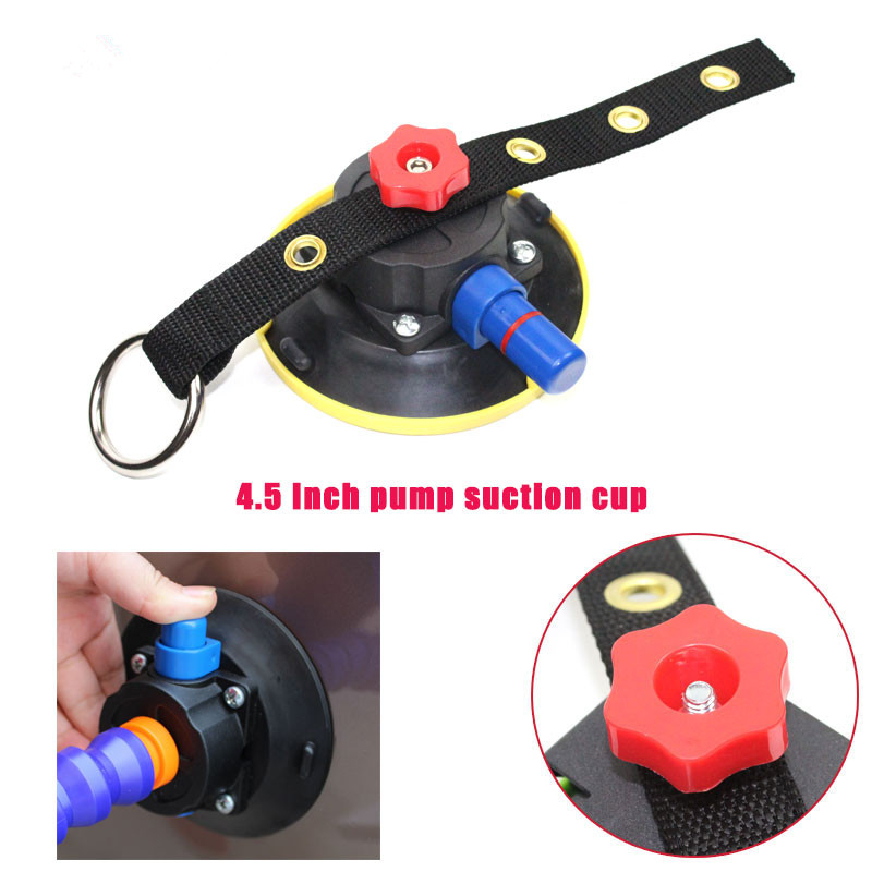 Free shipping 4.5inch Heavy Duty Hand Pump Suction Cup with Tripod Screw