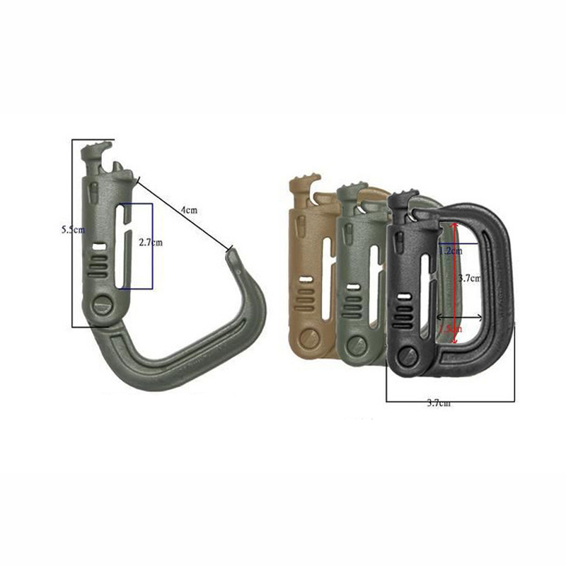 Image 4 - 5 PCS New Outdoor Climbing Tools Carabiners & Quickdraws D Locking Ring Plastic Clip Snap Type Ring Buckle Packpack Fast buckle-in Climbing Accessories from Sports & Entertainment
