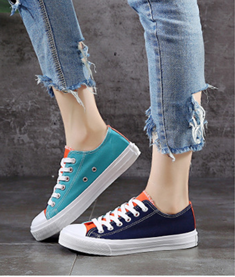 2018 new spring tenis feminino lace-up shoes woman canvas mixed color female shoes casual women shoes sneakers woman casual 2018 fashion women sneaker walk comfortable canvas shoes female spring summer student women shoes tenis feminino