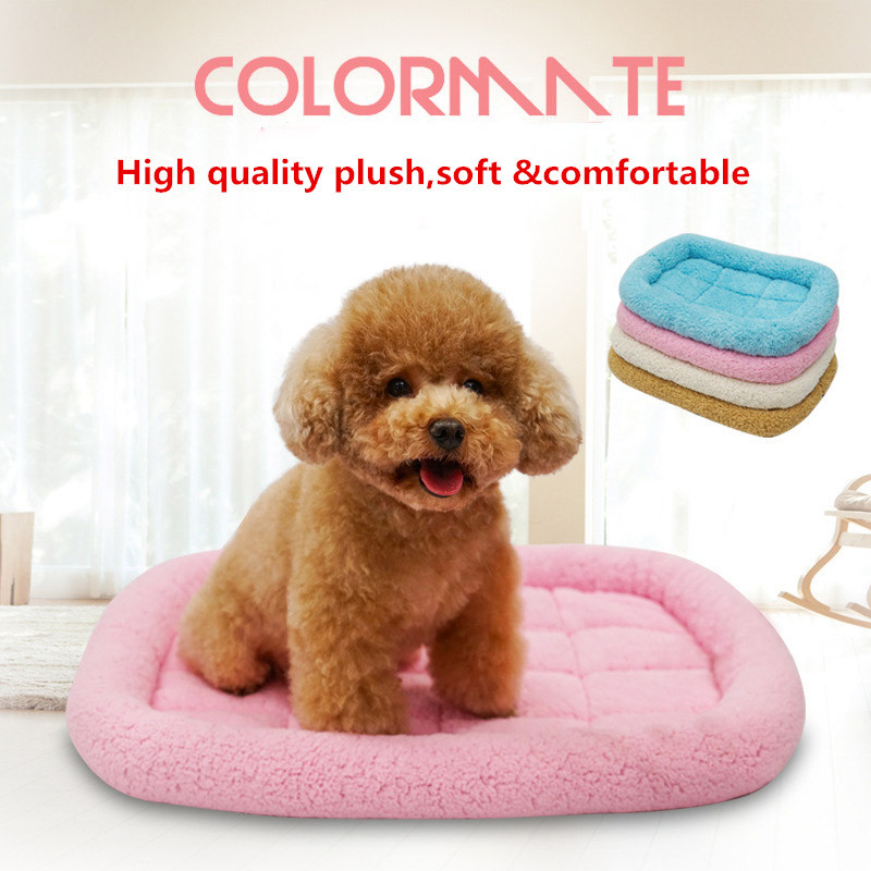 Top Quality Soft Dog Mat Kennel Sofa Nest Cat Puppy Bed Cushion Warm Cotton Big Blanket Mattress Pad for Pet Travel Sleeping Bed