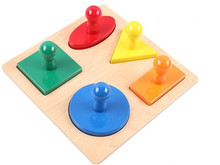 New Wooden Montessori Kids Toy Baby Wood Infant Shape Puzzles Learning Educational Preschool Training new wooden baby toy montessori wood tri color cylinder insert box learning educational preschool training baby gifts