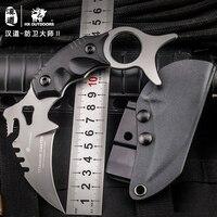 Hx aire libre karambit fijo de la lámina del cuchillo 440c titanium coated hoja k10 manija cuchillos de defensa garra del cuchillo del edc que acampa de acero en frío