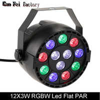 Par led 12X3 W rgbw led della lavata di Illuminazione Della Fase di DMX DJ DMX Led Par Led Del Partito Piatto per DJ