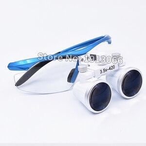 Image 5 - Hohe qualität 3,5 X420mm Tragbare Zahnarzt Chirurgische Medizinische Binocular Dental Lupe Optische Glas Für Dental Prüfungen
