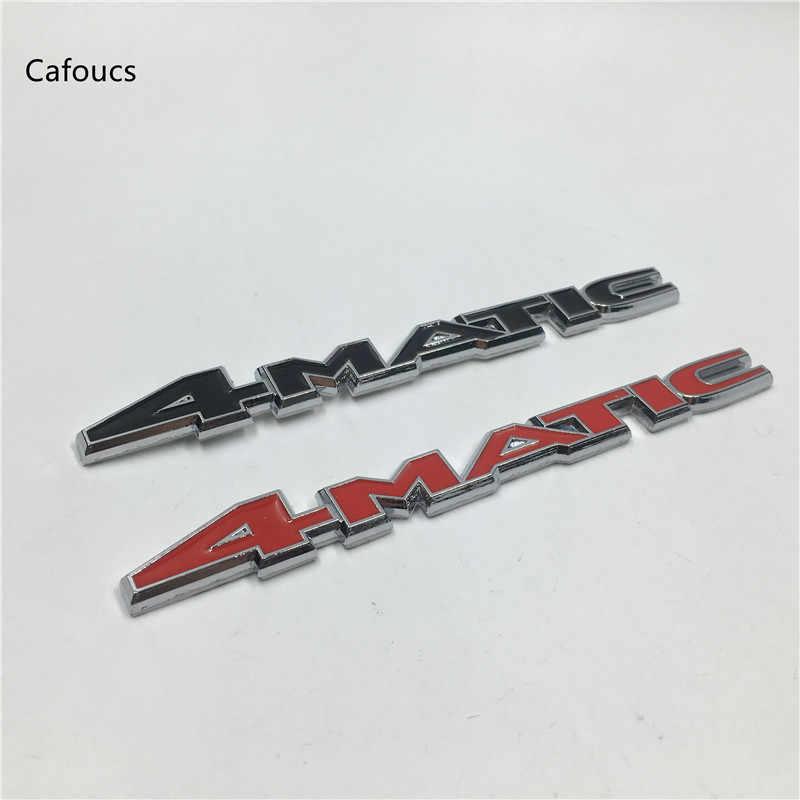 Cafoucs POUR MERCEDES 4-MATIC du ROUAGE INTÉGRAL 4matic Pare-chocs En Métal Coffre Gril Emblème Autocollant Logo Insigne