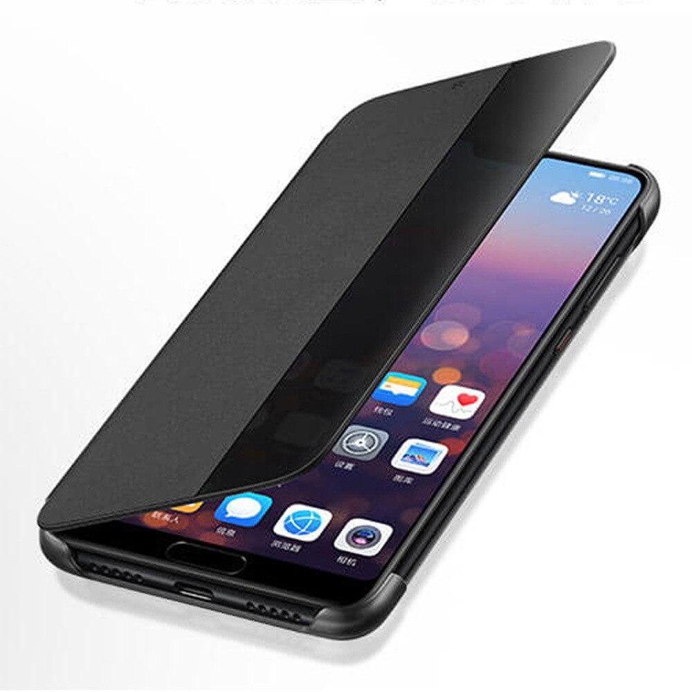 PU Leather Hard Window View Flip Case for Huawei P10 P20 P30 Pro lite Mate 20 Lite Mate 30 Pro
