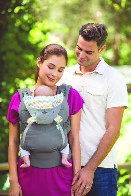 Portabebés portabebés, mochila de tirantes para niños, engrosamiento de hombros, 360 ergonómico, con capucha, canguro, portabebés