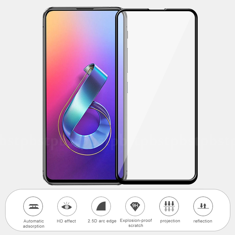 For <font><b>ASUS</b></font> <font><b>Zenfone</b></font> <font><b>6</b></font> <font><b>2019</b></font> <font><b>ZS630KL</b></font> 6Z 9H Full Cover Tempered Glass Screen Protector For <font><b>Asus</b></font> Zenfone6 Protective Smooth Touch Films image