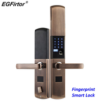 Digital Semicondu Fingerprint Smart Lock Biometric Fingerprint Electronic Door Lock Automatic For Home With Password Card Unlock