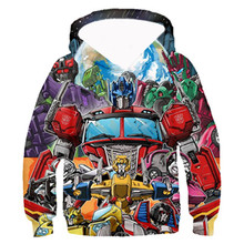 PLstar Cosmos Kids 3D Zip Hoodie Boys Anime Movie Sweatshirts Casual Pullover Coat Autobots Transformation robot Print 3D Hoodie trees sunset 3d print pullover hoodie
