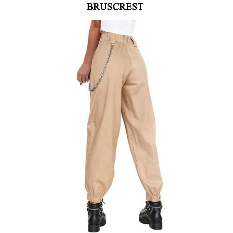 High waist pants black camouflage loose joggers women army camo harem pants punk cargo pants capris for women trousers 2019