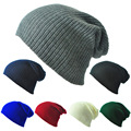 Hot sale Candy Color Wool Knitted Cotton Hat Women winter hats Girls Caps Boys Beanies Lady Head Wear accessories cap