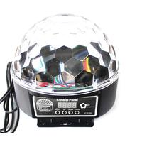 Portable Voice Activated RGB LED Crystal Magic Rotating Ball Light Disco Balls Light For Party Stage