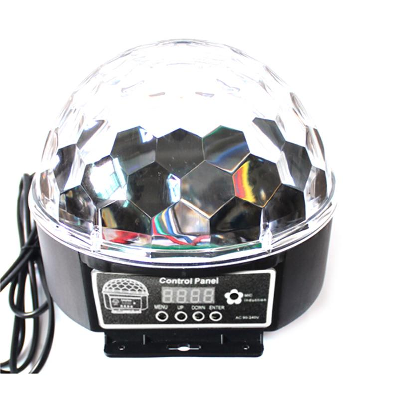 Portable Voice-Activated RGB LED Crystal Magic Rotating Ball Light Disco Balls Light For Party Stage LED Magic Ball Nightlight new d19 sound activated 5w 48 led rgb crystal magic sunflower light white