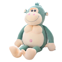 50 90CMLovely MONKEY Plush Toy bodybuilding monkey little monkey doll ugly bud doll boy girl pillow big