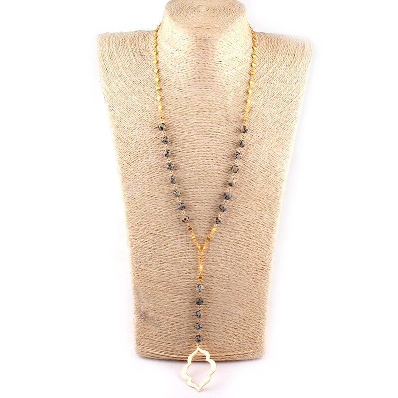 Mode Amazonit Natürliche stein Mit Gold Flache Runde Kette Verbinden kristall matt lip Anhänger Halsketten Frauen Lariat Halsketten