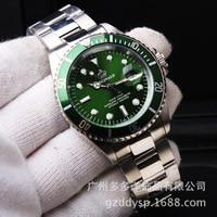 2016 Luxury Brand Wrist Watch Hk Crown Fashion Men Rotatable Bezel GMT Sapphire Glass Date Stainless