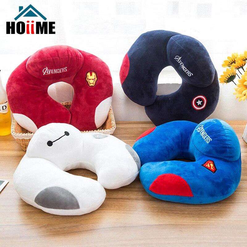 Hoiime Marvel Hero Series U Shape Neck Pillow Car Head Rest Cushion Creative Pillows Travel Home Office