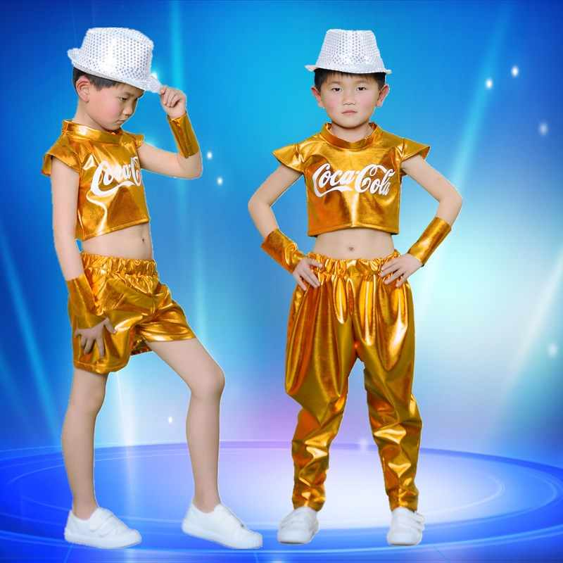Boy Jazz Khiêu Vũ Phục cho Buổi Biểu Diễn Con Cô Gái Hip Hop Quần Áo Khiêu Vũ Street Dance Waer DJ/DS Trang Phục Khiêu Vũ Hiển Thị vải